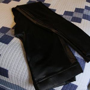 Blackmilk Pants - Blackmilk Wet Look Leggings, Medium